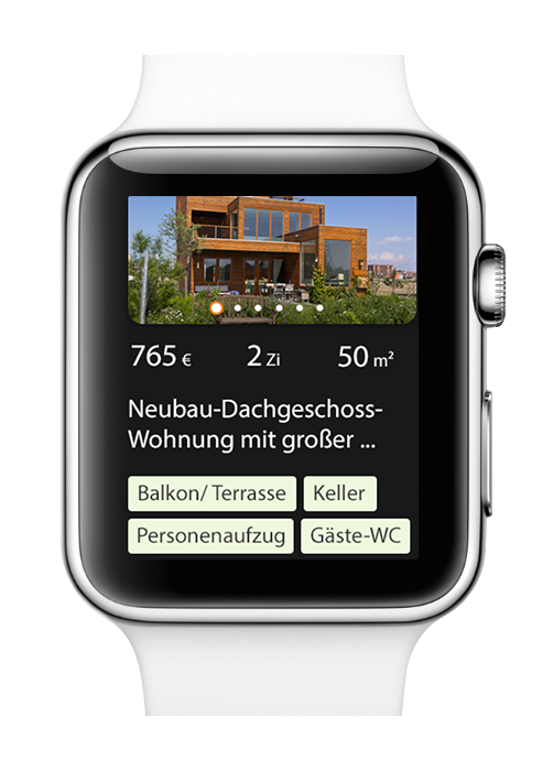 preview of the immobilienscout24 apple watch app - Robbin Staack User Experience Design